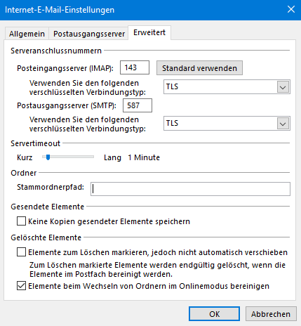 outlook2016 imap3